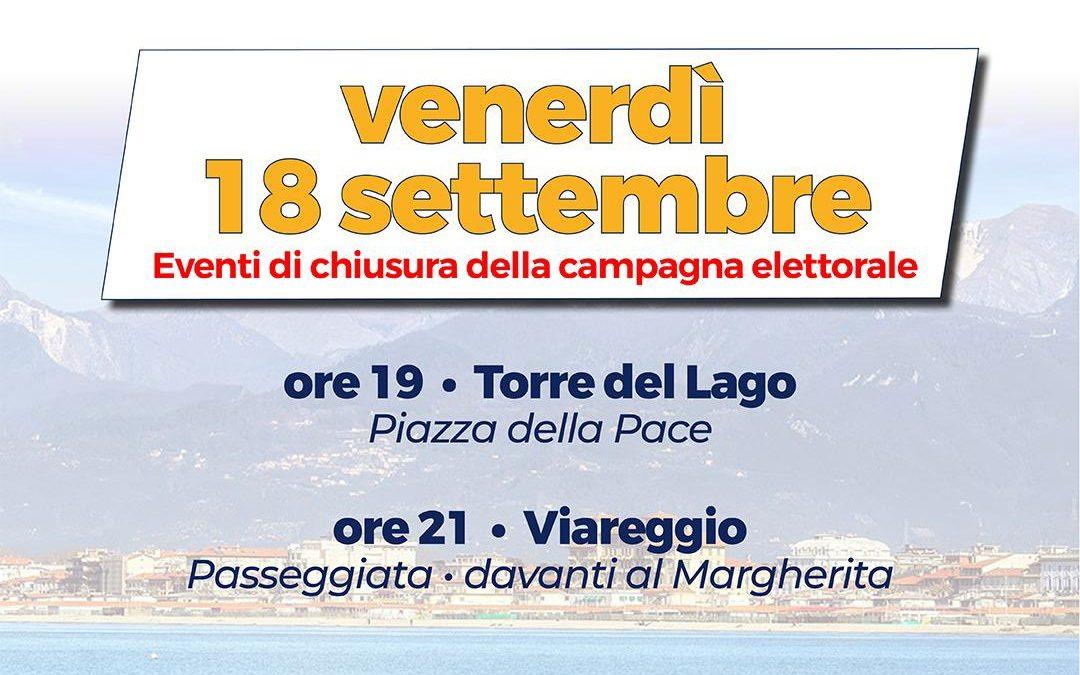 Eventi di chiusura della campagna elettorale